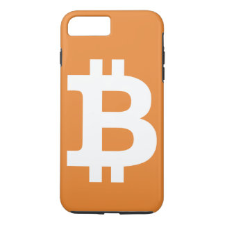 Funda Para iPhone 8 Plus/7 Plus iPhone anaranjado del logotipo de Bitcoin más el