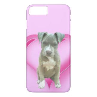 Funda Para iPhone 8 Plus/7 Plus Iphone azul del perrito del pitbull 7/8 caso