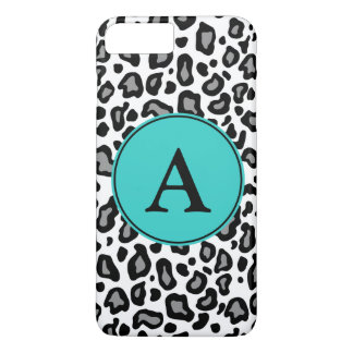 Funda Para iPhone 8 Plus/7 Plus iPhone blanco del leopardo del monograma de