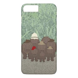 Funda Para iPhone 8 Plus/7 Plus iPhone de Apple de los hipopótamos 8 Plus/7 más,