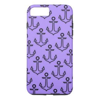 Funda Para iPhone 8 Plus/7 Plus iPhone púrpura del ancla 8 Plus/7 más el caso