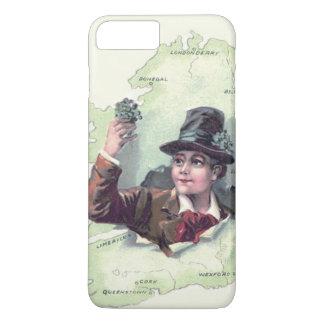 Funda Para iPhone 8 Plus/7 Plus Isla de Irlanda del trébol del Leprechaun