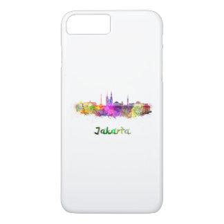 Funda Para iPhone 8 Plus/7 Plus Jakarta skyline in watercolor