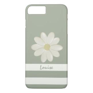 Funda Para iPhone 8 Plus/7 Plus La crema de la flor de la margarita raya el sabio