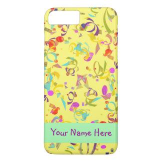 Funda Para iPhone 8 Plus/7 Plus Lanzamiento colorido del confeti sobre amarillo