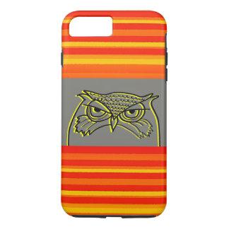 Funda Para iPhone 8 Plus/7 Plus Las rayas de neón anaranjadas del bosquejo