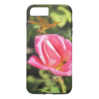 Funda Para iPhone 8 Plus/7 Plus Libélula y mariquita en color de rosa rosado