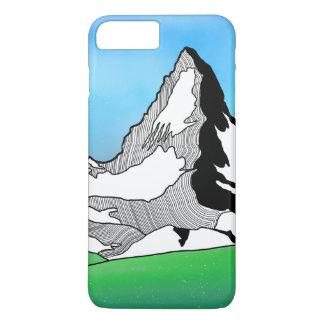 Funda Para iPhone 8 Plus/7 Plus Línea acuarela de Cervino Suiza del arte