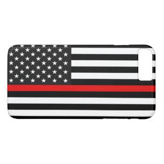 Funda Para iPhone 8 Plus/7 Plus Línea roja fina bandera americana