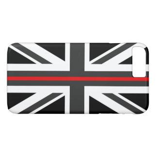 Funda Para iPhone 8 Plus/7 Plus Línea roja fina bandera de Reino Unido