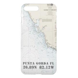 Funda Para iPhone 8 Plus/7 Plus Longitud de la latitud su carta náutica de FL de