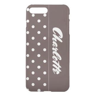 Funda Para iPhone 8 Plus/7 Plus Lunares del chocolate personalizados