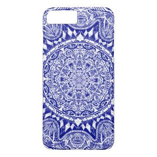 Funda Para iPhone 8 Plus/7 Plus Mandala azul marino de Mehndi