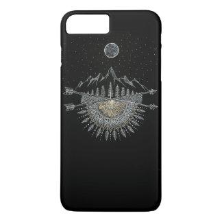 Funda Para iPhone 8 Plus/7 Plus Mandala de la cordillera de la luna y del cielo