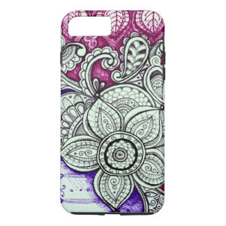 Funda Para iPhone 8 Plus/7 Plus Mandala india marroquí exótica étnica púrpura