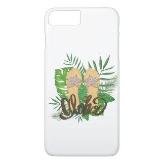 Funda Para iPhone 8 Plus/7 Plus Mano de las hojas de palma de la pintura de la
