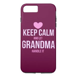 Funda Para iPhone 8 Plus/7 Plus Mantenga tranquilo y deje a la abuela dirigirlo