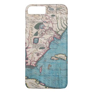 Funda Para iPhone 8 Plus/7 Plus Mapa antiguo de la Florida y de Cuba