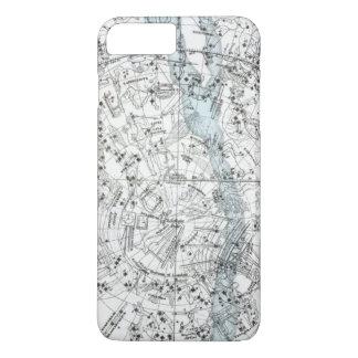 Funda Para iPhone 8 Plus/7 Plus Mapa de la placa XXVIII del hemisferio meridional