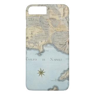 Funda Para iPhone 8 Plus/7 Plus Mapa del golfo de Nápoles y de los alrededores