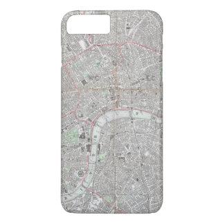 Funda Para iPhone 8 Plus/7 Plus Mapa del vintage de la ciudad de Londres
