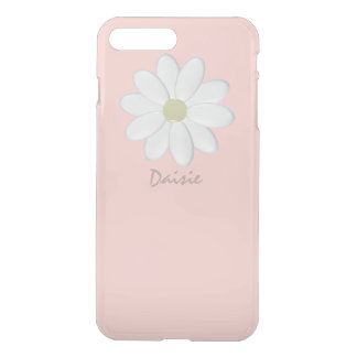 Funda Para iPhone 8 Plus/7 Plus Margarita blanca pálida - rosa