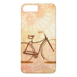 Funda Para iPhone 8 Plus/7 Plus Melocotón bonito de la bicicleta de la sepia del