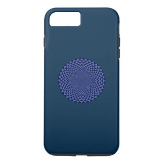 Funda Para iPhone 8 Plus/7 Plus Mil pétalos Lotus, azul