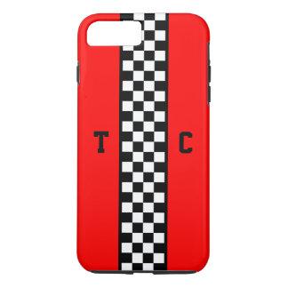 Funda Para iPhone 8 Plus/7 Plus Modelo a cuadros del coche de carreras del