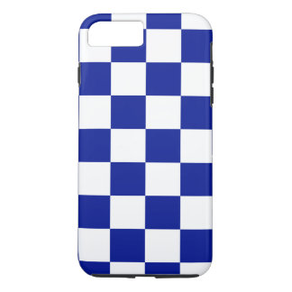 Funda Para iPhone 8 Plus/7 Plus Modelo a cuadros real del azul y blanco