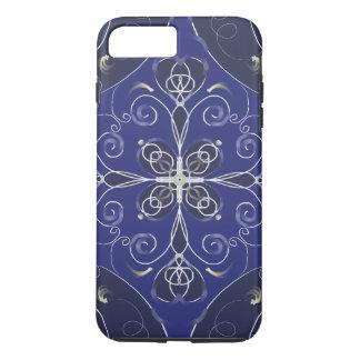 Funda Para iPhone 8 Plus/7 Plus Modelo azul barroco medieval de la oscuridad del