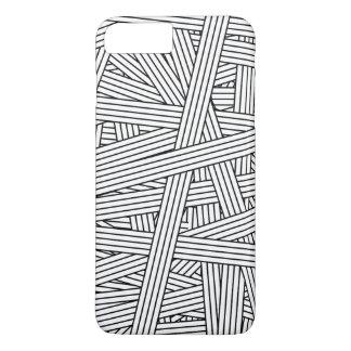 Funda Para iPhone 8 Plus/7 Plus Modelo blanco y negro del lío de las rayas