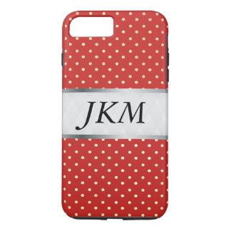 Funda Para iPhone 8 Plus/7 Plus modelo de punto elegante/rojo