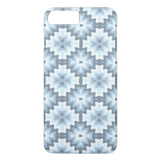 Funda Para iPhone 8 Plus/7 Plus Modelo tribal azul en colores pastel elegante de