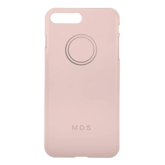 Funda Para iPhone 8 Plus/7 Plus Monograma color de rosa rosado personalizado