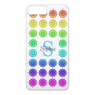 Funda Para iPhone 8 Plus/7 Plus Monograma colorido Barely There del modelo del