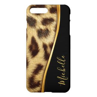 Funda Para iPhone 8 Plus/7 Plus Monograma elegante de la piel del leopardo de las