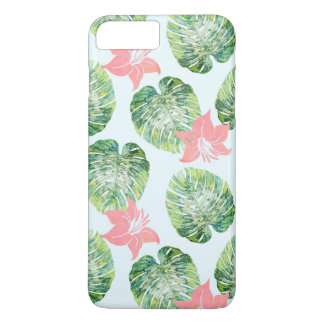 Funda Para iPhone 8 Plus/7 Plus Monstera y rosa