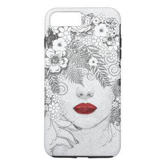 Funda Para iPhone 8 Plus/7 Plus Mujer con los labios rojos