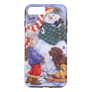 Funda Para iPhone 8 Plus/7 Plus Muñeco de nieve de encargo del navidad del día de