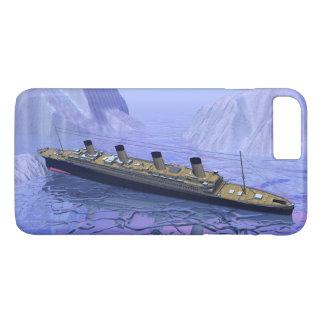 Funda Para iPhone 8 Plus/7 Plus Nave titánica que se hunde - 3D rinden