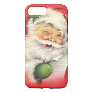 Funda Para iPhone 8 Plus/7 Plus Navidad Papá Noel del vintage