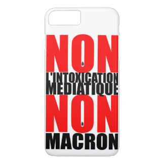Funda Para iPhone 8 Plus/7 Plus No IP del à MACRON del l'INTOXICATION MEDIATIQUE