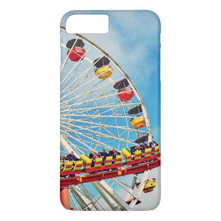 Funda Para iPhone 8 Plus/7 Plus Noria del carnaval de la diversión y foto de la