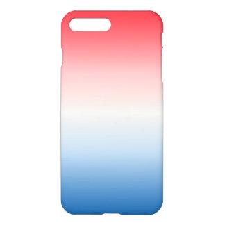Funda Para iPhone 8 Plus/7 Plus Ombre blanco y azul rojo