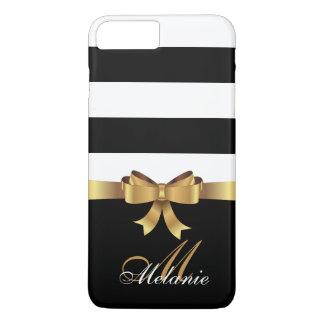 Funda Para iPhone 8 Plus/7 Plus Oro personalizado, ARCO de oro de las rayas