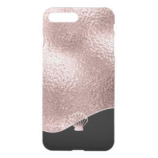 Funda Para iPhone 8 Plus/7 Plus Oro subió Seashell de cristal ID363