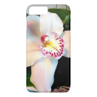 Funda Para iPhone 8 Plus/7 Plus Orquídea blanca del Cymbidium