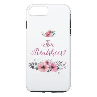 """Funda Para iPhone 8 Plus/7 Plus """"Para Realskees?"""" Caso floral de Smartphone"""