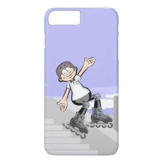 Funda Para iPhone 8 Plus/7 Plus Patín sobre ruedas niño alegre saltando